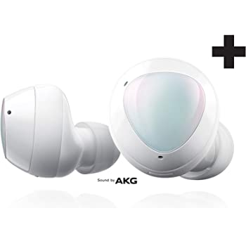Samsung Galaxy Buds+ Plus, True Wireless Earbuds w/improved battery and call quality (Wireless Charging Case included), White – US Version