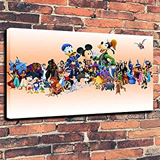 Pintura sin Marco Niños Dibujos Animados Personajes de Cuentos de Hadas animación Historia Lienzo Pintura Sala de Estar decoración del hogar24X39cm