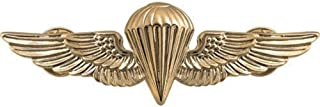 Parachutist Badge US Navy (USN) and Marine Corps (USMC) Regulation Size, Gold Mirror Finish