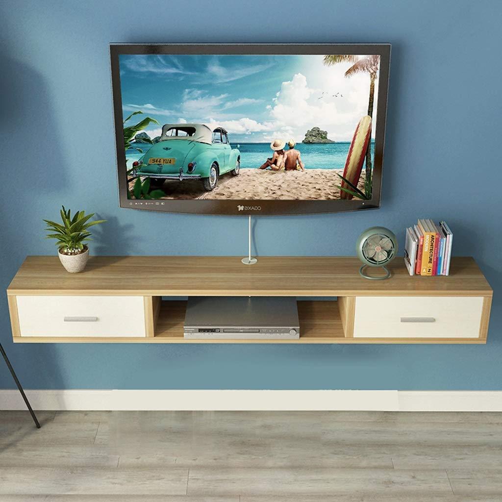 Estante de Pared Estante Flotante Mueble de TV Montado en la Pared con Cajón Soporte para TV Caja de Conexión Caja de Conexión Equipo de Juego Caja Pequeña Pequeños Productos Electrónicos Bastidores: