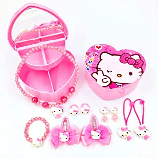 Kerr's Choice ❤Hello Kitty Gifts❤ Hello Kitty Necklace Bracelet and Pink Hair Accessories for Toddlers, Little Girls | Hello Kitty Gift Set Baby Girl | Little Girl Jewelry (Multi)