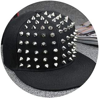 Wholesale Spiked Rivet Nail Handmade Snakeskin Leather Luxury Brand Snapback for Women Men White
