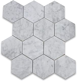 grey and white octagon tile