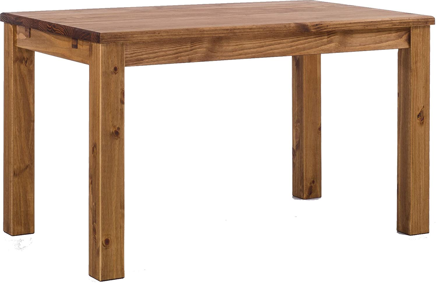 TableChamp Dining Room Table Rio 47 x 30 Brazil Solid Wood Pine Oiled Extension Extendable