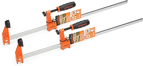 new arrival Jorgensen discount 2-pack Medium Duty Steel Bar Clamp Set with 600 sale lbs Load limit, 24-inch outlet online sale