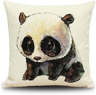 Crazy Cart 18×18 Inch Panda Pattern Throw Pillow Cover Decorative Cushion Case Home Pillowcase