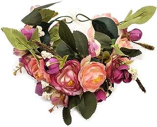 Flower Crown Wedding Hair Wreath Floral Headband Garland Wrist Band Set