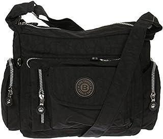 Bag Street Umhängetasche Bodybag Nylon, Schwarz, 30x22x15cm