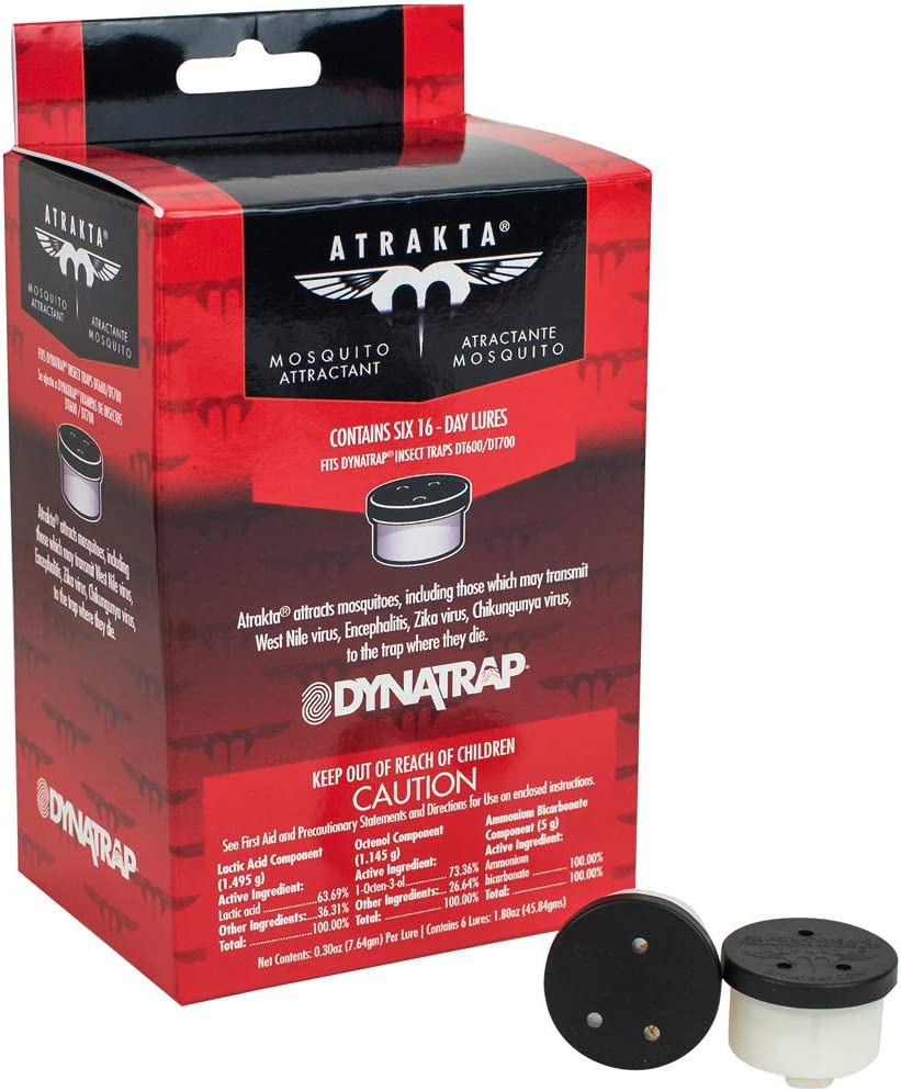 DynaTrap 100603 Mosquito Outdoor Insect Trap Models DT600 and DT700 Rep Cartridge, 8 in, Atrakta Pod Lure