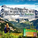 Ace Travel Buddy Large Body Wet Wipes Biodegradable - No Rinse Bath Or Shower Bamboo Wipe - Gym, Travel, Camping…