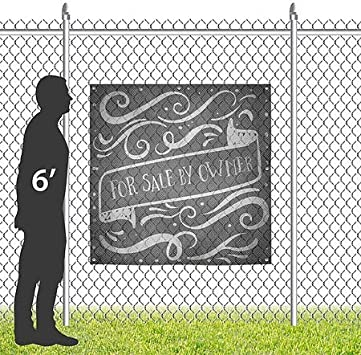 8x8 Chalk Banner Wind-Resistant Outdoor Mesh Vinyl Banner CGSignLab for Sale by Owner