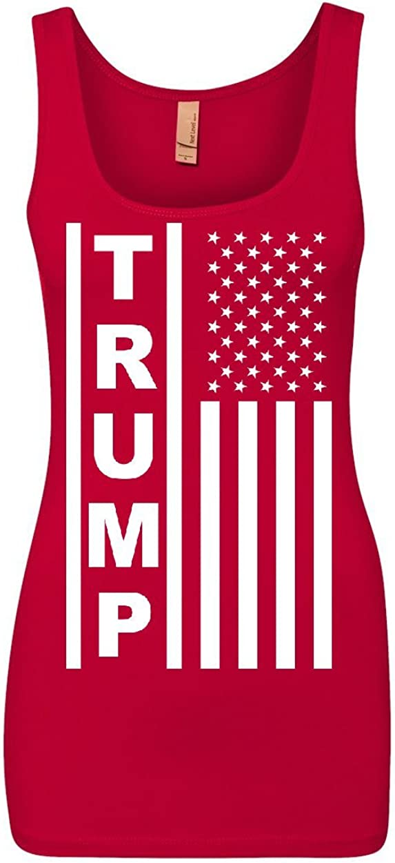 Tee Hunt Trump Flag excellence MAGA Republican 2021 autumn and winter new Top American Women's Pr Tank