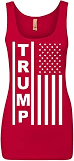 Tee Hunt Trump Flag MAGA Republican Women's Tank Top American President