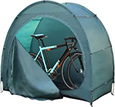 H&ZT Portable Pop Up Bike Tent Space Saving Outdoor Storage Shed Tent Weather Resistant Protection with Carrying Case (Dark Blue (Zipper Upgraded))