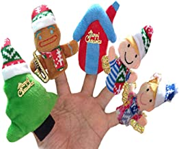 Leoy88 10pcs Story Time Christmas Santa Claus and Friends Finger Puppets Educational Toy