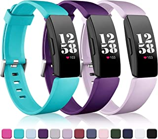Wepro Bands Replacement Compatible with Fitbit Inspire HR & Inspire & Ace 2 Fitness Tracker for Women Men, 3-Pack, Small, Large