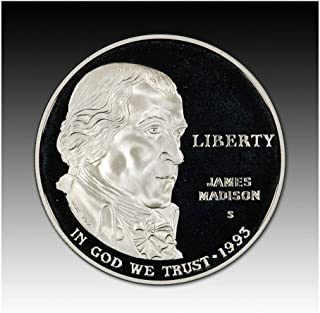 1993 S US James Madison Bill of Rights Proof Silver Dollar $1 DCAM US Mint