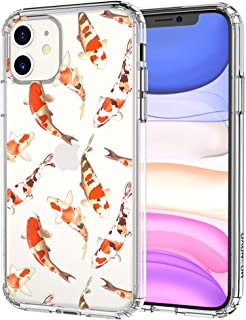MOSNOVO iPhone 11 Case, Koi Fish Pattern Clear Design Transparent Plastic Hard Back Case with TPU Bumper Protective Case Cover for Apple iPhone 11 (2019)