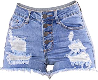 Sweatwater Womens Wide Leg Jeans Cut Off Washed Casual Summer Denim Shorts