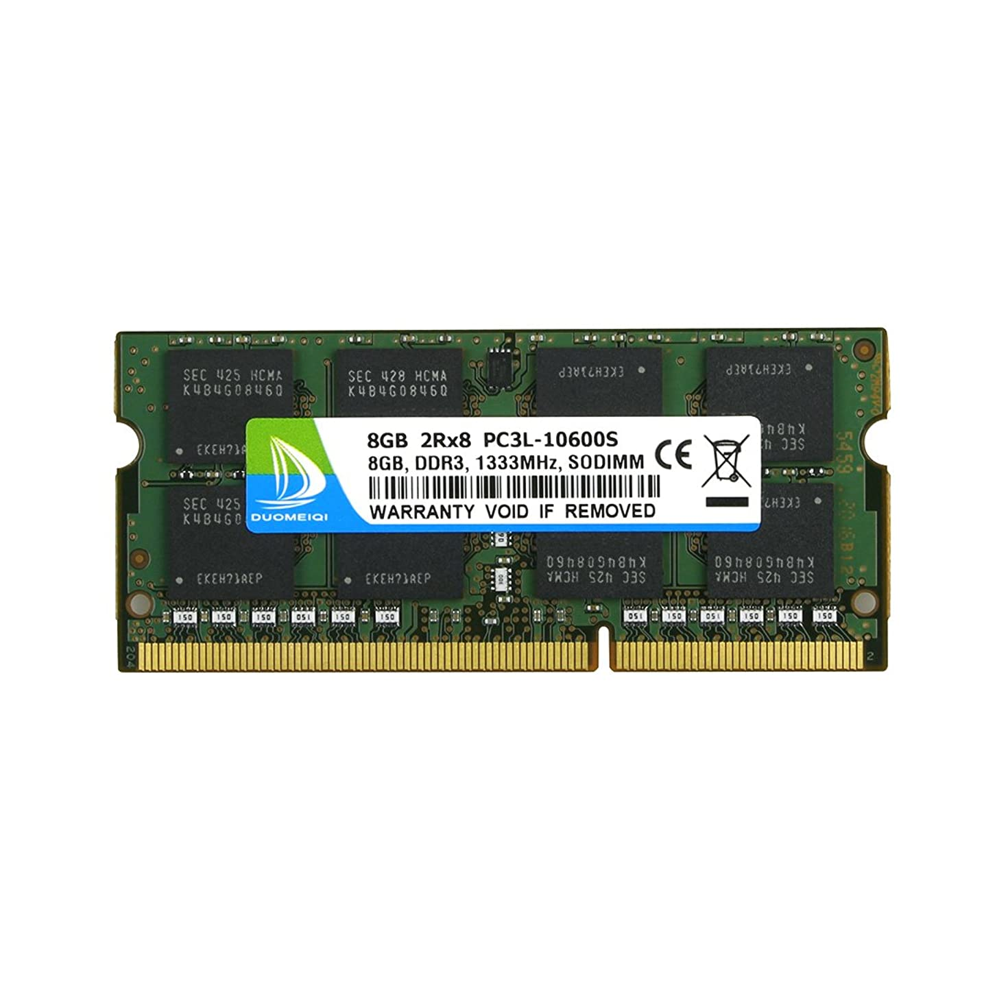DUOMEIQI DDR3 1333, PC3-10600 DDR3 Ram 8GB 2Rx8 PC3 10600S 8GB DDR3 204 pin 1.35v CL9 PC3/PC3L DDR3/DDR3L Notebook Laptop Memory RAM Module