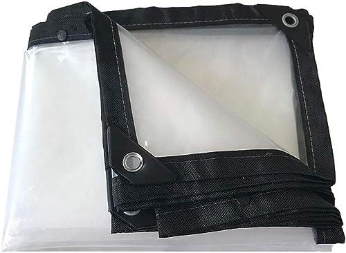 WZLDP Poncho Transparent imperméable rembourré en Tissu en Plastique Balcon fenêtre fenêtre Pluie Hangar Plante Fleur Isolation extérieure à Effet de Serre Film Anti-UV