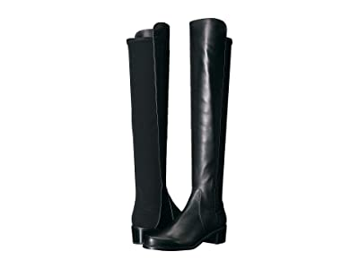 Stuart Weitzman Reserve Knee High Boot (Black Nappa/Stretch Gabardine) Women