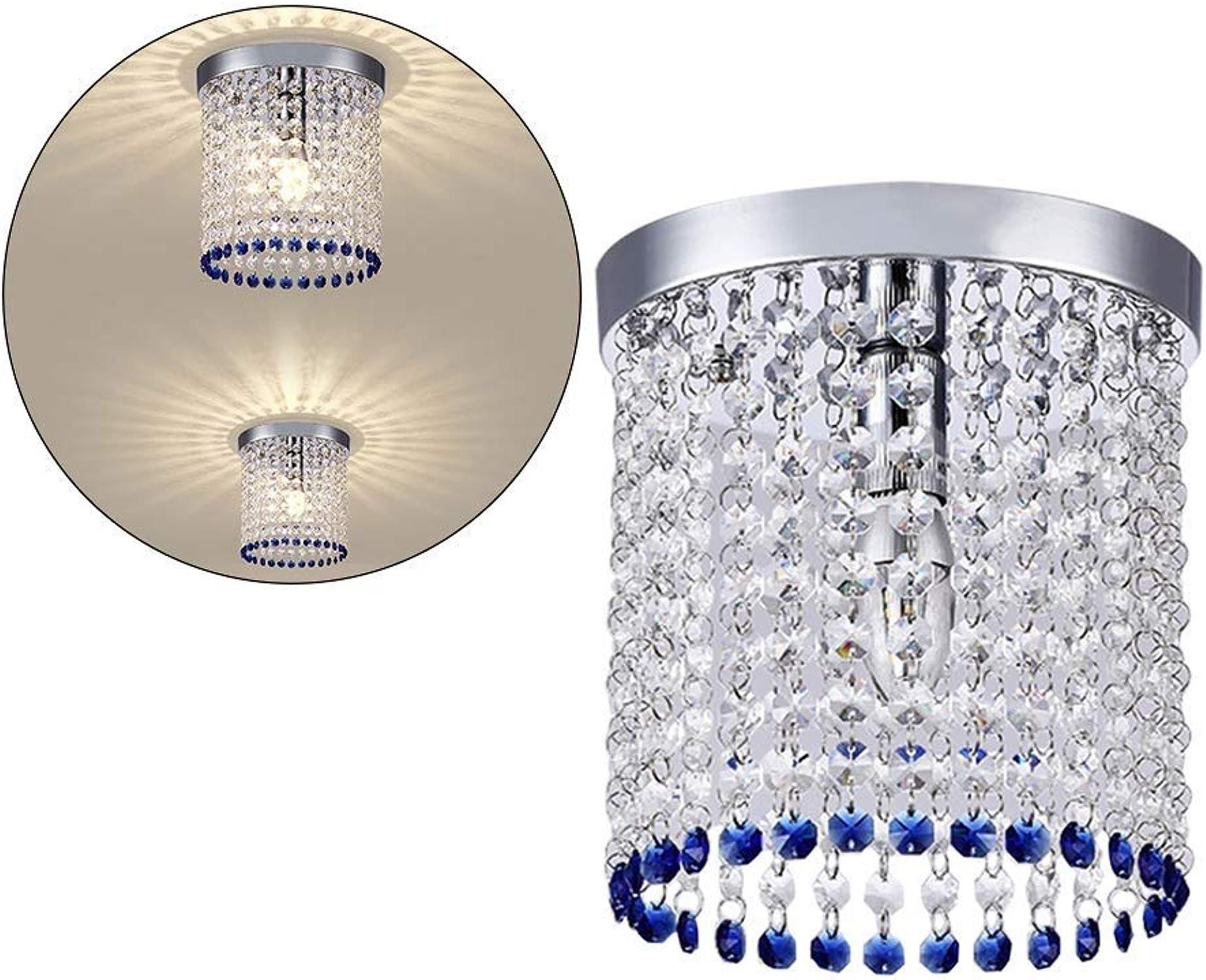 AINI Cristal De Goutte De Pluie Moderne en Cristal Luminaire Plafonnier éclairage Plafonnier LED Plafonnier pour Salle à Manger Salle De Bains Chambre Salon E14 Ampoules à LED