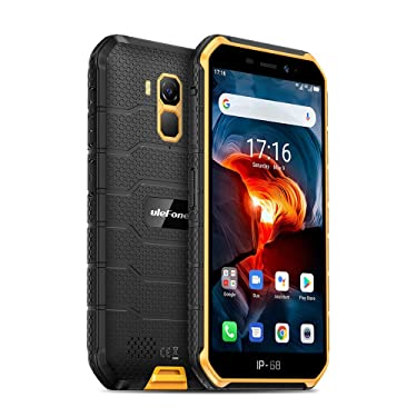 4G Rugged Smartphones Unlocked Ulefone Armor X7 Pro, Android 10 32GB +4GB Rugged Cell Phones Waterproof Camera 13MP+5MP Dual Sim 5'' IPS Screen, 4000Mah, Face Unlock, GPS, GLONASS, Compass (Orange)