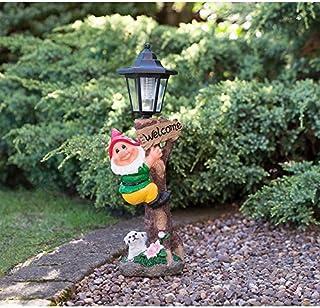 Design Toscano Decorations-Garden Loonie Moonie Happy Birthday Naughty Mooning Gnomes Statues 14x18x19 cm Multi-Color