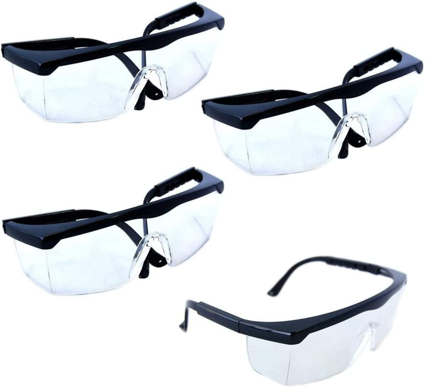 HQRP 4-pack Sales Clear Lenses Protective Safety for Goggles Glasses L Topics on TV