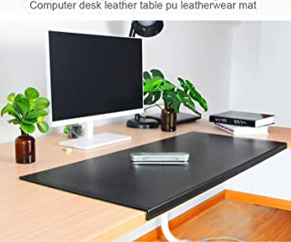 "Non-Slip Soft Leather Surface Office Desk Mouse Mat Pad with Full Grip Fixation Lip Table Blotter Protector 35.4""x 15.8"