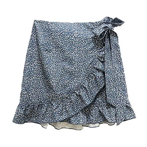 Verano de las Mujeres Casual Cómodo Ropa Corta Falda de Cintura Alta Falda