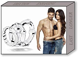 CHMEIJI Silicone Exercise Bands for Men - Different Size Premium Quality Silicone Rings - Super Soft Elastic Exercise Rings - Transparent