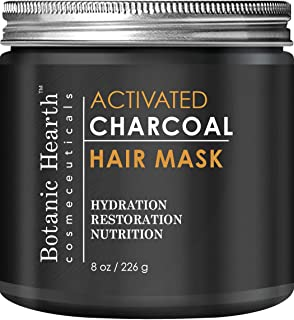 Botanic Hearth Charcoal Hair Mask - Deep Conditioning Hair Treatment - Natural Hair Care Product, Hydrating & Restorative Hair Mask, 8 fl oz