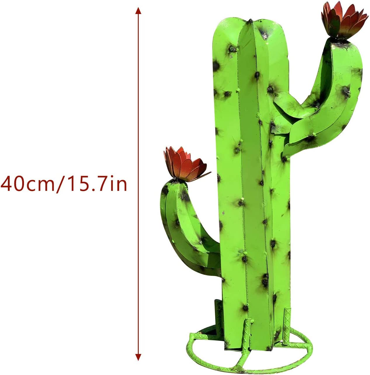DIY Metal Cactus Plant,Rustic Hand Painted Metal Cactus,Garden Yard Art Decoration Statue Home Decor for Yard Stakes,Garden Figurines,Outdoor Patio Blue liufeng Mexican Cactus Rustic Sculpture
