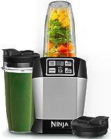 Ninja BL480 Batidora de vaso 1000W Negro, Plata - Licuadora (Batidora de vaso, Negro, Plata, 2 pieza(s), 1000 W, 394 mm)