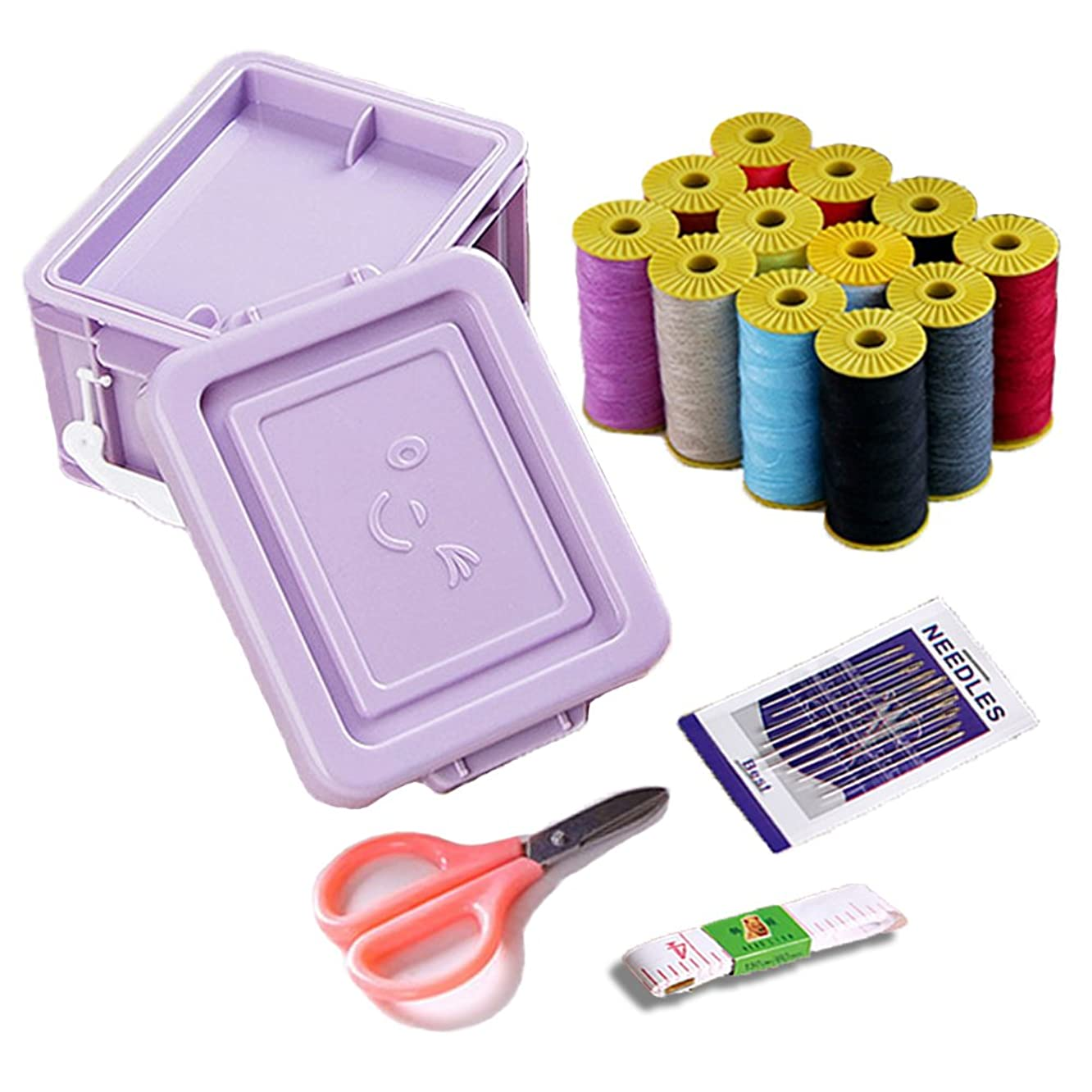 Sewing Kit, Sew Supplier Set with Threads, Needles, Scissors, Tape Measure, Carrying Case-Mini Travel Sewing Kit for Beginners, Kids, Adults, Best for Emergency, Home and Traveling to Mend and Repair
