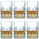 SZMMG Whiskygläser Set von 6 mit 11er Unzen Premium bleifreiem Kristall-Whiskyglas, altmodisches Glas im Rock-Stil zum Trinken von Scotch, Bourbon, Cognac, Irish Whiskey und altmodischen Cocktails