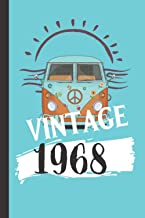 Vintage 1968: Unique Novelty Vintage Gifts For Men And Women: Beautiful Lined Notebook