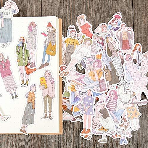 Blour stickers voor dames, om te knutselen, voor fotoalbums, zelfklevend, scrapbooking, 100 stuks