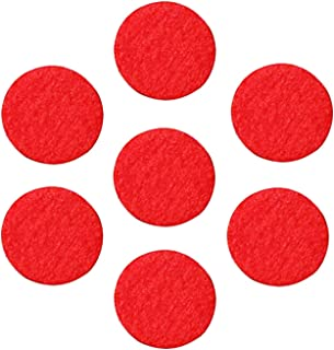 Adhesive Felt Circles; Adhesive Felt Circles for DIY and Sewing Handcraft, 1 Inch (100 Count, Red)