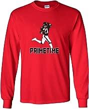 The Silo Long Sleeve RED Atlanta Deion Prime Time T-Shirt