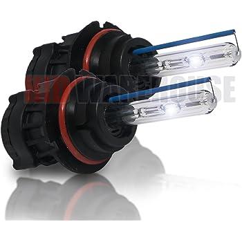 HID-Warehouse HID Xenon Replacement Bulbs - Bi-Xenon 9007 6000K - Light Blue (1 Pair)