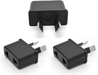 Grounded Travel Plug Adapter Universal to Australia/China - Travel Prong Converter Adapter Plug Kit for Australia/China(Type I) - 3 Pack