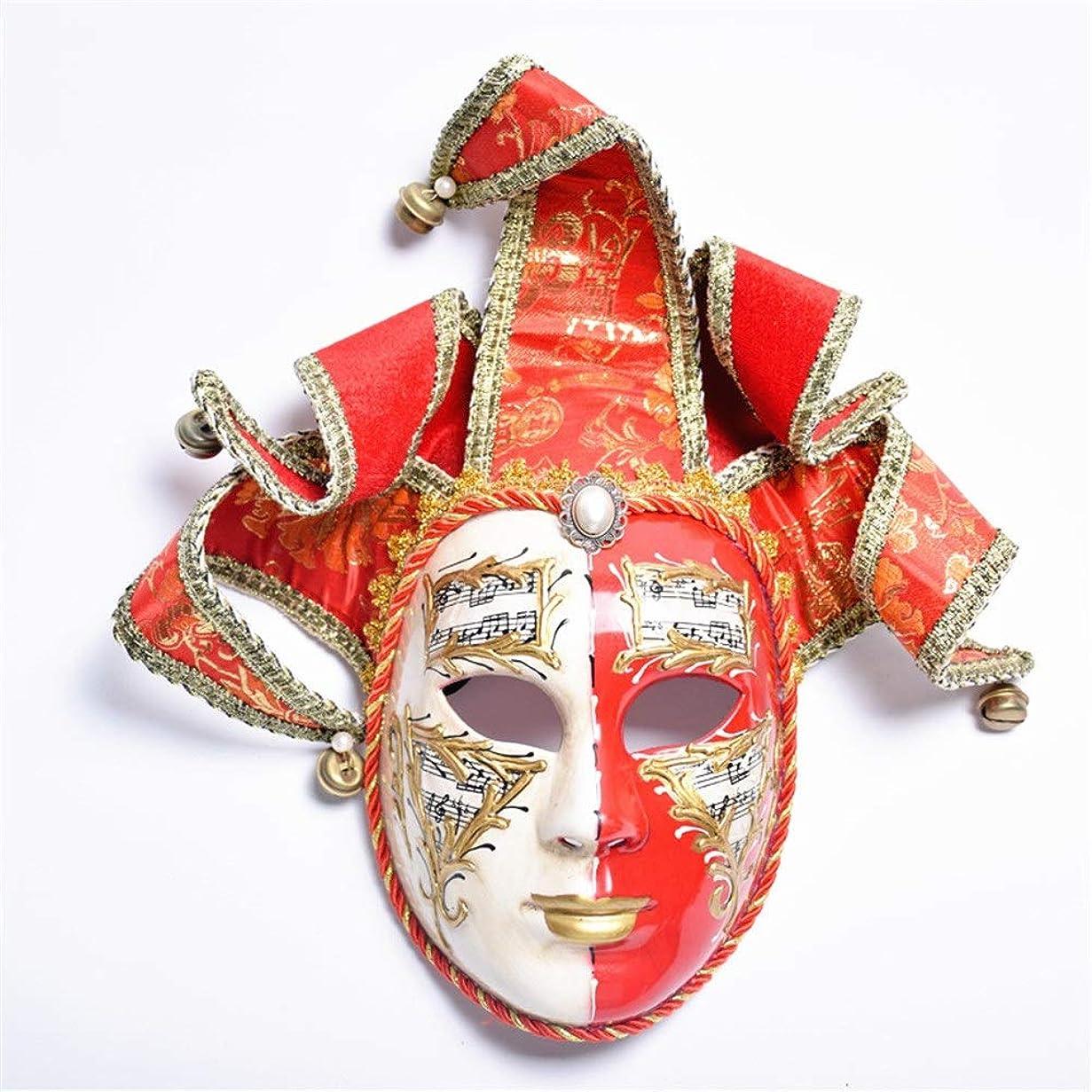通知お手伝いさんとしてダンスマスク レッドゴールドマスク女性仮装パーティーナイトクラブロールプレイング装飾プラスチックマスク ホリデーパーティー用品 (色 : Red+Gold, サイズ : 33x31cm)
