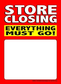 T50SCE Store Closing Everything Must Go! - Slotted Sale Tags - 5