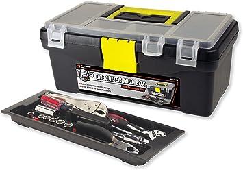 "Performance Tool W54012 Plastic Tool Box with Organizer, 12.5"": image"