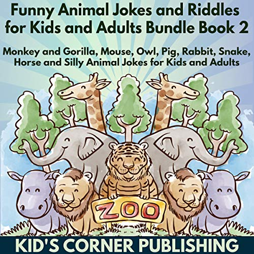 Funny Animal Jokes and Riddles for Kids Bundle, Book 2 audiobook cover art