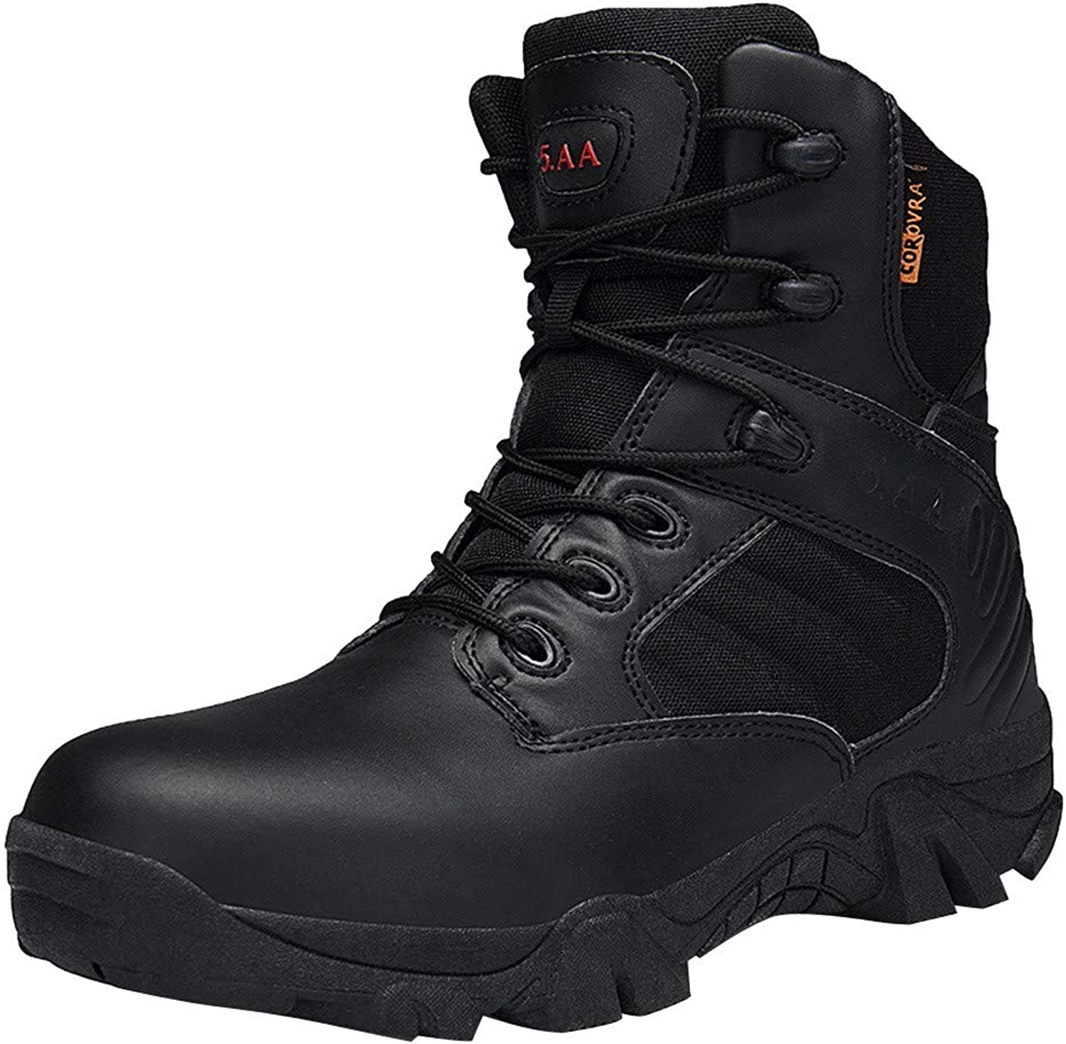 Men Wear-Resisting Non-Slip Outdoor Climbing Hiking Boots Combat Military Boots RedBrowm
