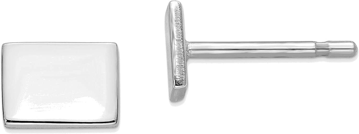 14kt White Gold WY Small State Earring